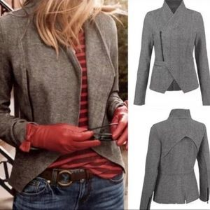 CAbi Gray Rebel Asymmetrical Moto Jacket